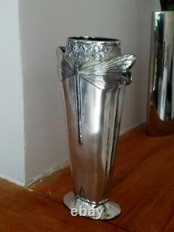 Vase art Nouveau Libellules Signé Gallia