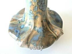 Vase art nouveau Pierrefonds Emile Bouillon vers 1900