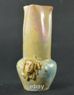 Vase art nouveau en grès signé (mougin puisaye dalpayrat)