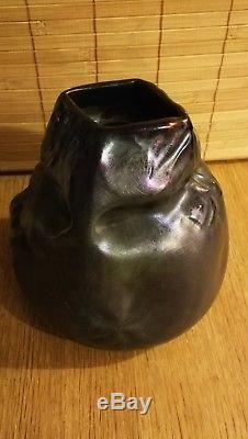 Vase art nouveau montieres irisé