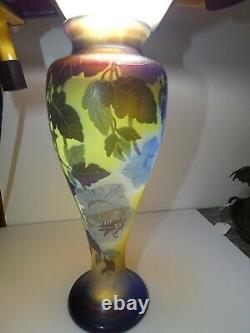 Vase bignone émile Gallé 1846-1904 école de Nancy verrerie Art Nouveau