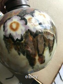 Vase boule Camille THARAUD Limoges céramique col en argent art nouveau