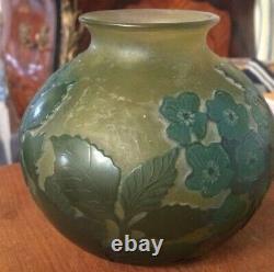 Vase boule signé Daum Nancy art nouveau