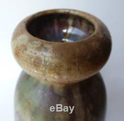 Vase col bulbeux Art Nouveau Alexandre Bigot grès céramique 1900