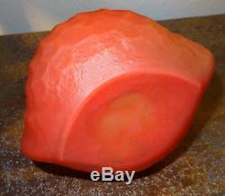 Vase coloquinte pâte de verre rouge art nouveau LoetzDaum à identifier