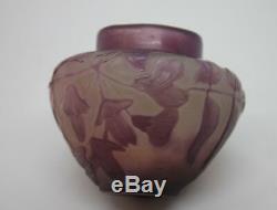 Vase d' Émile Gallé époque Art Nouveau début XXème
