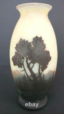 Vase de Muller frères Luneville Art nouveau