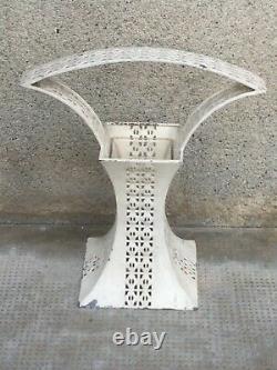 Vase design JOSEF HOFFMANN wiener werkstatte blumenkorb iron sheet glass 1905