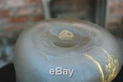 Vase émaillé Montjoye Legras enameled glass chipped ice art nouveau Jugenstil