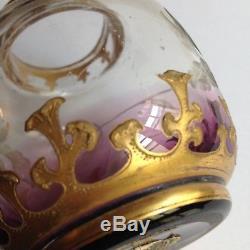 Vase en Cristal Art Nouveau 1900 Montjoye Saint Denis Daum Legras