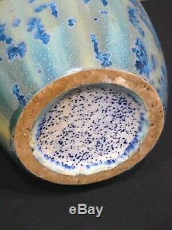 Vase en Grés Pierrefonds Art nouveau Cristallisations 31 cm