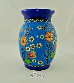 Vase en céramique Keramis floral et japonisant par Charles Catteau Art Nouveau
