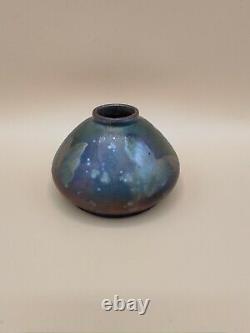 Vase en céramique irisé art nouveau décor papillons DLG Massier, Montieres