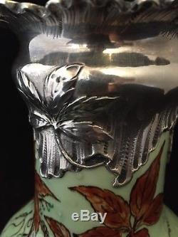 Vase en faience, ceramique de Sèvres Art nouveau Felix Optat Mllet
