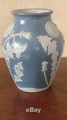 Vase en grès S. P. GERZ, Allemagne, Art Nouveau, stoneware, jugendstil Steinzeug