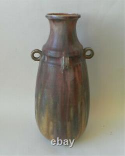 Vase en grès flammé Charles Greber Beauvais Art Nouveau rares couleurs