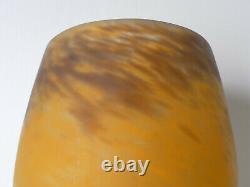 Vase en pâte de verre art nouveau signé Muller frères Luneville era Gallé Daum