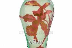 Vase fleuri en Baccarat 1900. Flowered vase by Baccarat 1900