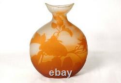 Vase gourde pâte de verre Emile Gallé fleurs liseron Art Nouveau XIXème