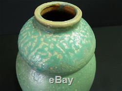 Vase grés émaillé Art Nouveau Coloquinte ELCHINGER 1900 jugendstil NANCY signé
