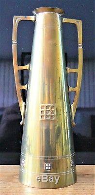 Vase laiton de Serrurier-Bovy art nouveau jugendstil
