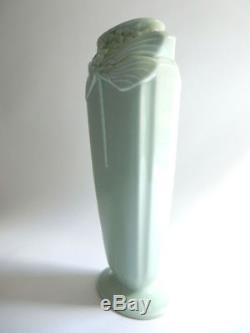 Vase libellule en porcelaine par Christofle céramique Art Nouveau 1889