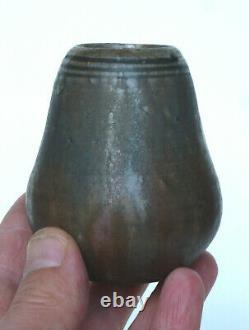 Vase miniature Alexandre Bigot grès émaillé Art Nouveau 1900 1910 B