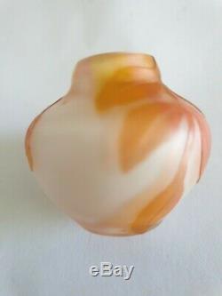 Vase miniature pâte de verre, Weis, Art Nouveau, XIXe