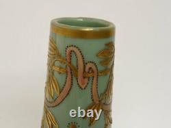 Vase pâte de verre émaillée legras Art nouveau verrerie (14529)