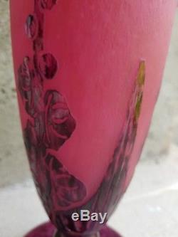 Vase pate de verre signé le verre francais Schneider ART NOUVEAU 1930