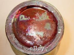 Vase renflé en Céramique irisée, signé AIRE BELLE ART NOUVEAU