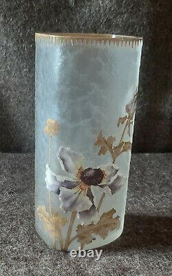 Vase rouleau Legras Montjoye signé Art Nouveau