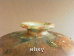 Vase signé Alfred Renoleau art nouveau émail cristallisations et coulures