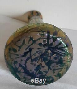 Vase verre irisé Kralik bohême 1900 Art Nouveau