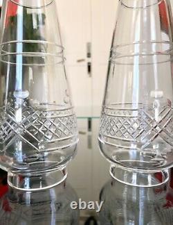 Vases Art Nouveau Jugendstil Laiton et Verre Décoration 1900 XXe siècle