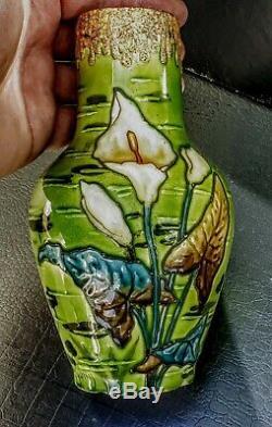 Victor Yung Optat Milet Et Sevres Vase Ceramique Art Nouveau 1900 Decor Iris