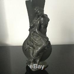 Virgile MOREY (act. 1883-1895) Vase Art Nouveau 1900 Etain Sculpture Belle Epoque